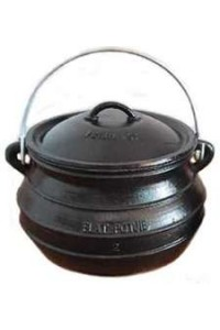 Potjie Cast Iron Flat Pot - 2 Quart Size 1/2 Potjie Pots Cast Iron Cookware Cast Iron Cooking Pots, Potjie Pots, Cauldrons, Large Stew Pots, Camping Gear