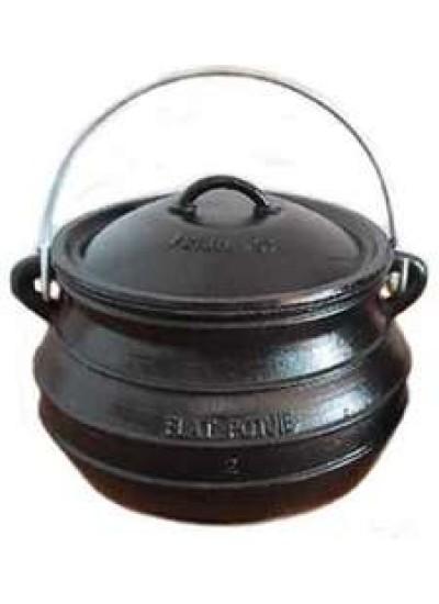 Potjie Cast Iron Flat Pot - 7 Quart Size 2 at Potjie Pots Cast Iron Cookware, Cast Iron Cooking Pots, Potjie Pots, Cauldrons, Large Stew Pots, Camping Gear