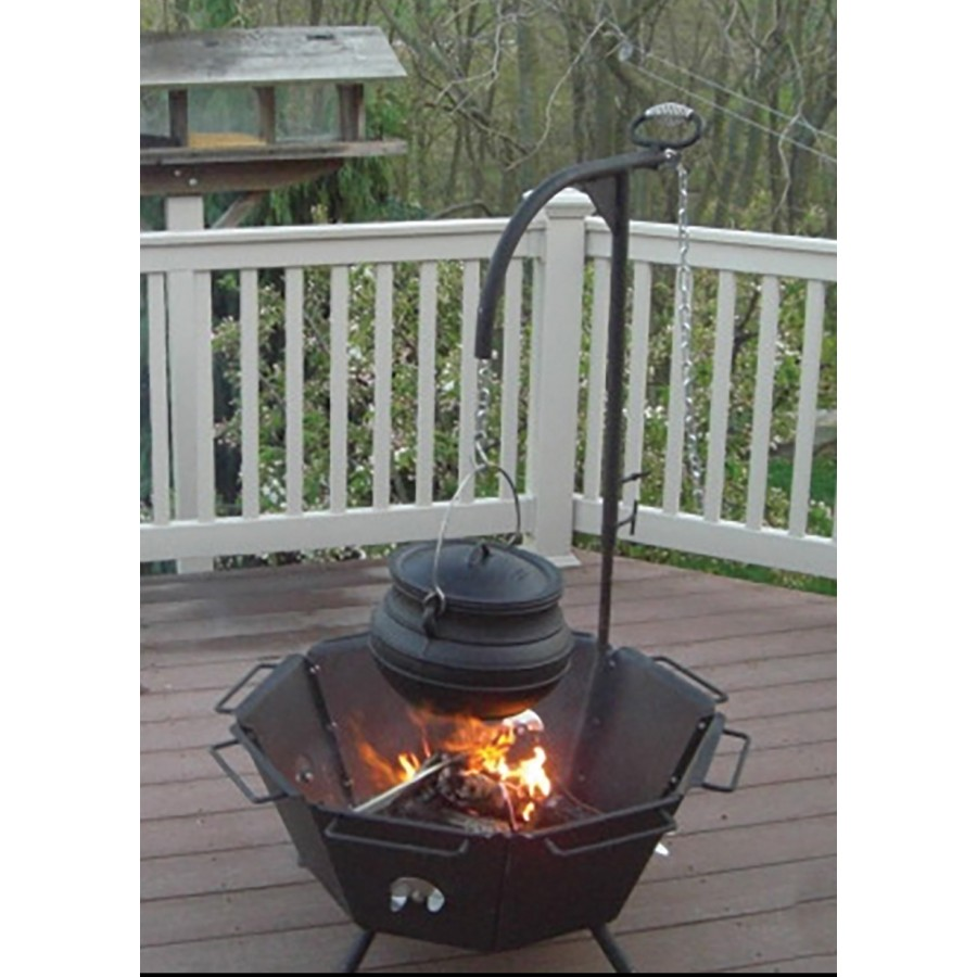 Kettle Hook For Backyard Fire Pit Cooker At Potjie Pots Cast Iron Cookware