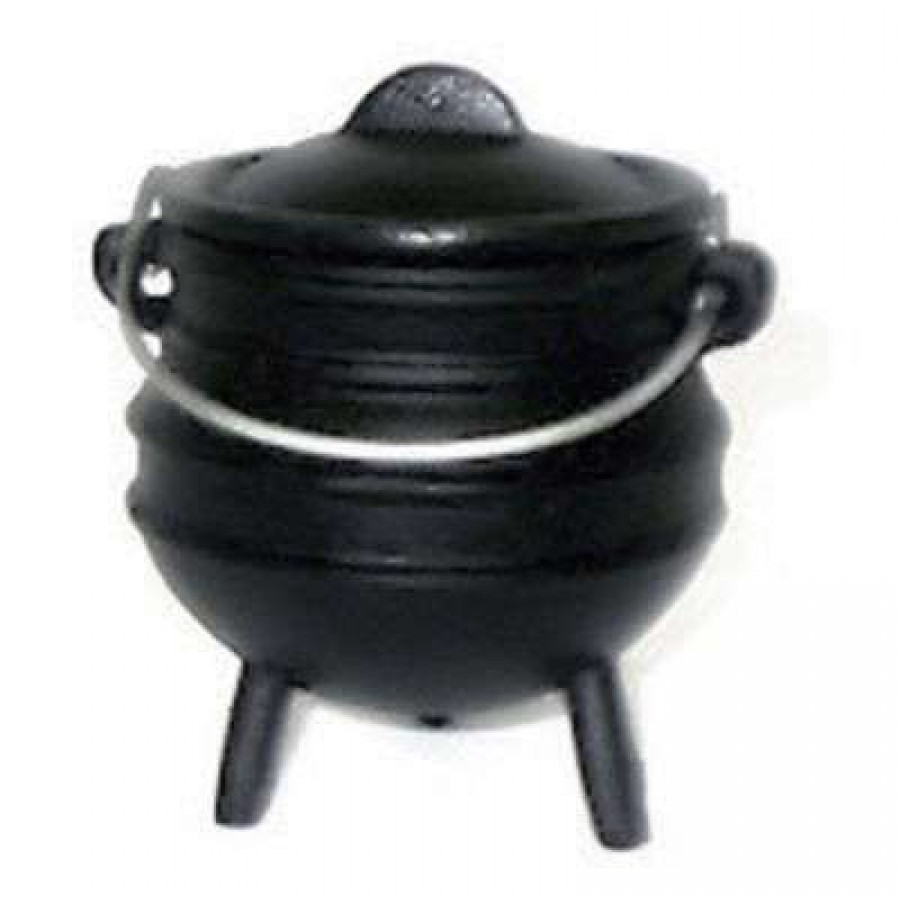 Potbelly mini cast iron camp kettle wicca cauldron