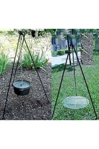 Heavy Duty Camping Tripod for Potjie Stew Pots Potjie Pots Cast Iron Cookware Cast Iron Cooking Pots, Potjie Pots, Cauldrons, Large Stew Pots, Camping Gear