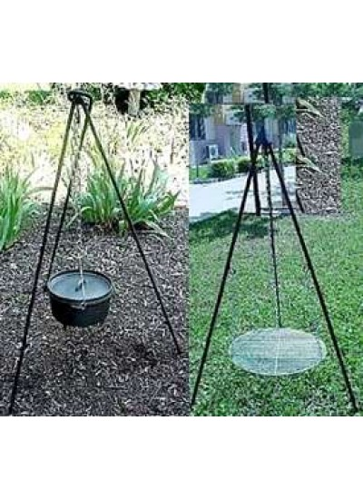 Heavy Duty Camping Tripod for Potjie Stew Pots at Potjie Pots Cast Iron Cookware, Cast Iron Cooking Pots, Potjie Pots, Cauldrons, Large Stew Pots, Camping Gear