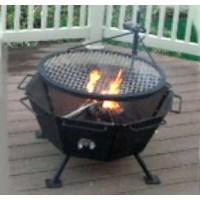 Backyard Fire Pit Cooker