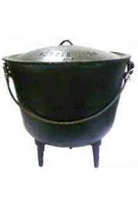 Potjie Cast Iron Kettle - 33 Gallon Size 33 Potjie Pots Cast Iron Cooking Pots, Potjie Pots, Cauldrons, Large Stew Pots, Camping Gear