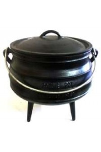 Cast Iron Potjie Cauldron - 23 oz. Size 1/4 Potjie Pots Cast Iron Cookware Cast Iron Cooking Pots, Potjie Pots, Cauldrons, Large Stew Pots, Camping Gear
