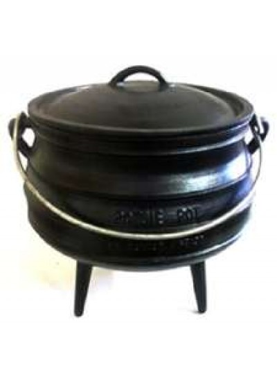 Cast Iron Potjie Cauldron - 2.25 Gallon Size 4 at Potjie Pots Cast Iron Cookware, Cast Iron Cooking Pots, Potjie Pots, Cauldrons, Large Stew Pots, Camping Gear